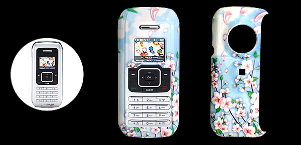 Hard Plastic Case with Peach Blossom Pattern for LG VX9900
