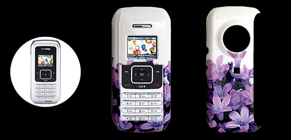 White Hard Plastic Case with Orchid Pattern for LG VX9900