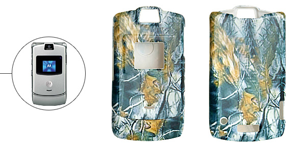 Hard Plastic Case with Age-Old Tree Pattern for Motorola V3
