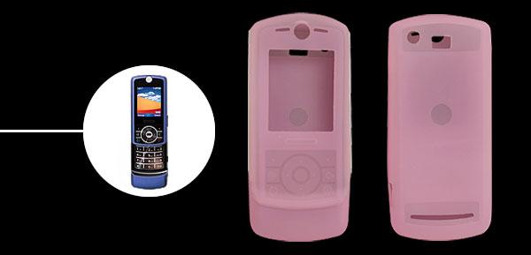 Pink Silicone Skin Protective Case for Motorola RIZR Z3