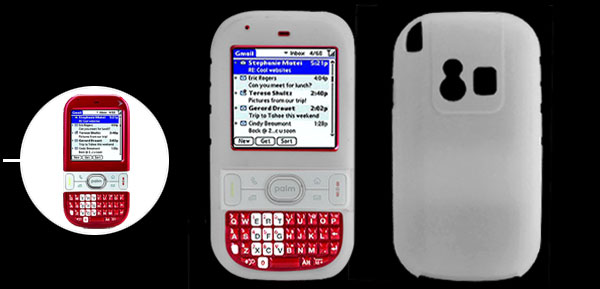 Clearwhite Soft Silicone Skin Case Cover for Palm Centro 690