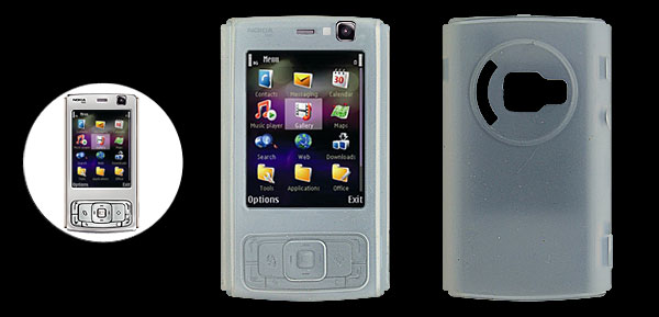 Clear White Silicone Protective Case Cover for Nokia N95 N83