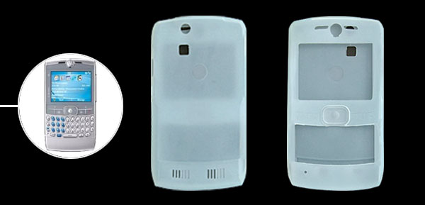 Protective Lightblue Silicone Skin Case Cover for Motorola Q