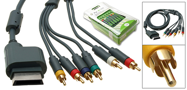 HD Component High Definition AV Cable 480p for Xbox 360