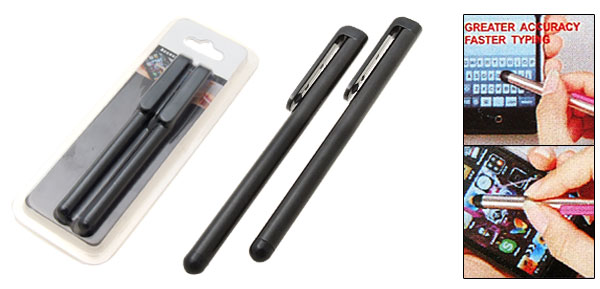 Two Stylus Pen with Clip for Apple iPhone 3G iPod Touch 2G