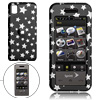 Black Hard Plastic Case with Silvery Star Pattern for Samsung M800