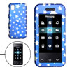 Blue Hard Plastic Case with Silvery Star Pattern for Samsung M800