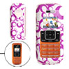 White Hard Plastic Case with Purple Ring Pattern for LG VX9900