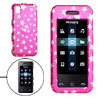 Amaranth Pink Hard Plastic Case with Silvery Star Pattern for Samsung M800