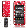 Red Hard Plastic Case with Silvery Star Pattern for Samsung M800