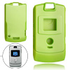 Plastic Protector Hard Cover Green Phone Case for Motorola V3