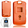 Plastic Protector Hard Cover Orange Case for Motorola V3