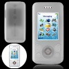 Clear White Silicone Skin Protective Case for Sony Ericsson W580