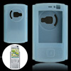 Silicone Skin Protective Case for Nokia N95 N83 Lightblue