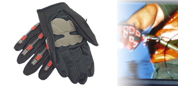 Black Large Full Finger Sports Driving Mountain Bike Motorcycle Gloves