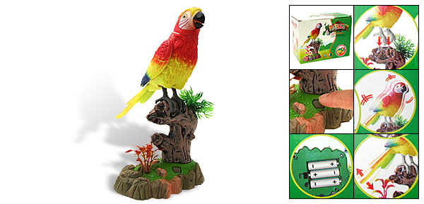 Activated Motion Sensor Singing Birdcall Home Shop Parrot Toy Gift