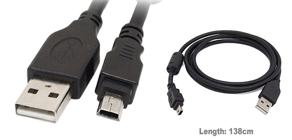 5-Pin USB 2.0 Data Sync Charger Cable for Mp3 Mp4 Camera Camcorders