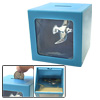 Cute Sea-gull Magic Money Saving Coin Box Piggy Bank Blue