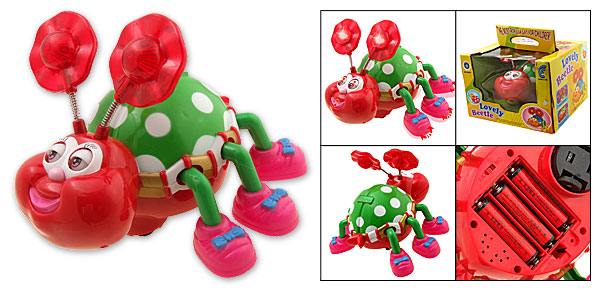 Pump & Go Lovely Music Flash Feelers Beetle Toy