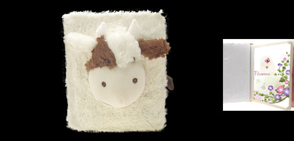 Rectangle White Soft Plush Cartoon Sheep Photo Picture Album Case