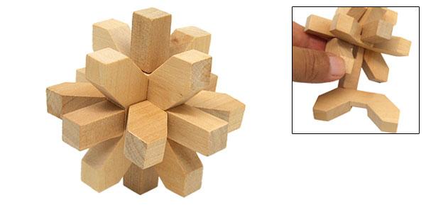 Vintage Wooden Brain Teaser Puzzle 3D Toys Hobbies