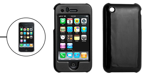 Black Hard Plastic Case Cover for Apple iPhone 3G