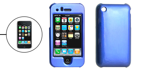 Blue Hard Plastic Case Cover for Apple iPhone 3G