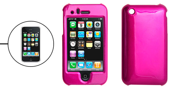 Amaranth Pink Hard Plastic Case Cover for Apple iPhone 3G