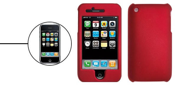 Crimson Hard Plastic Case Cover for Apple iPhone 3G