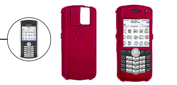Red Hard Plastic Protective Phone Case for Blackberry 8100 Pearl