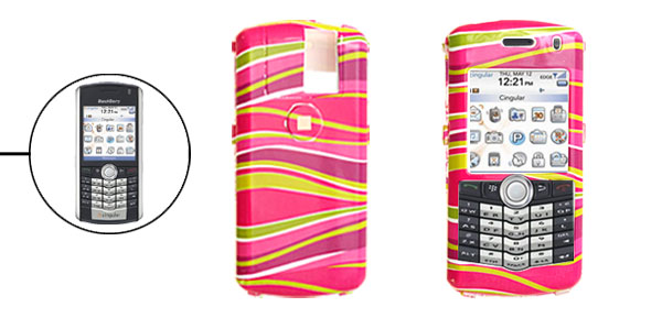 Colorful Stripe Pattern Hard Plastic Case for Blackberry 8100 Pearl