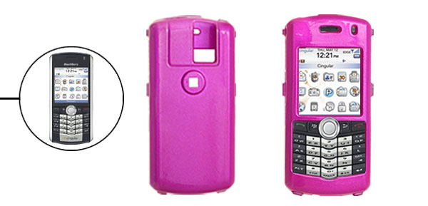 Amaranth Pink Hard Plastic Mobile Phone Case for Blackberry 8100 Pearl