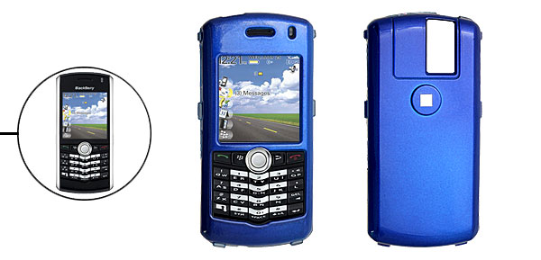 Blue Hard Plastic Mobile Phone Case for Blackberry 8100 Pearl