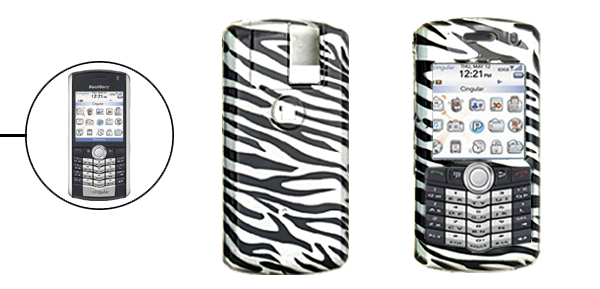 Zebra Print Pattern Hard Plastic Case for Blackberry 8100 Pearl