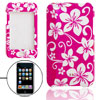 Flower Pattern Plastic Case Amaranth Pink for iPod Touch II 2nd G...