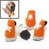 Protective Pet Puppy Leather Fabric Boots Dogshoes Booties