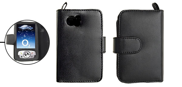 Black Leather Case Pouch Cover for O2 XDA Atom