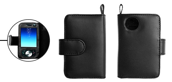Leather Case Pouch with Strap Credit Card Holder for O2 xda Atom Life