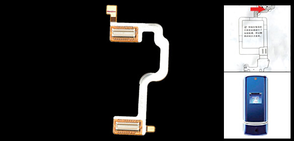 Replacement LCD Flex Cable Ribbon for Motorola KRZR K2