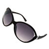 Fashion Big Lens Black Plastic Arms Sunglasses for Ladies