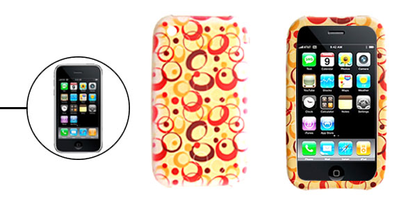 Colorful Soft Silicone Skin Back Case for Apple iPhone 3G