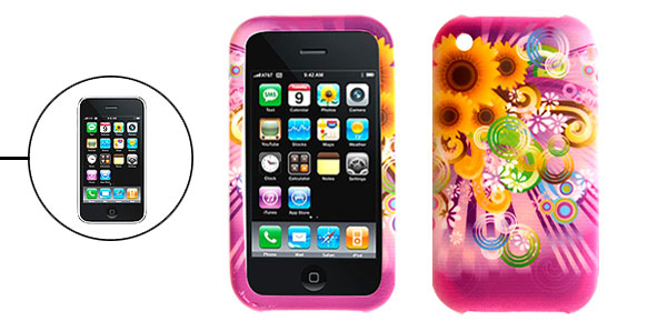 Sunflower Silicone Skin Back Case Cover for Apple iPhone 3G
