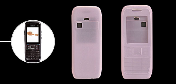 Durable Pink Silicone Skin Case Protector for Nokia E51