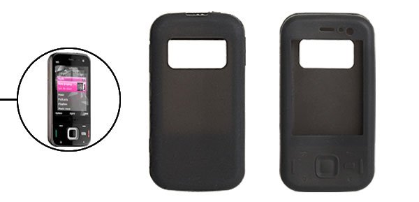 Black Cool Preminum Silicone Skin Case Protector for Nokia N85