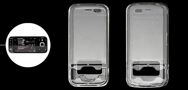 Clear Crystl Hard Plastic Protector Case Cover for Nokia N85