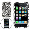 Zebra Print Soft Silicone Skin Back Case for iPhone 3G