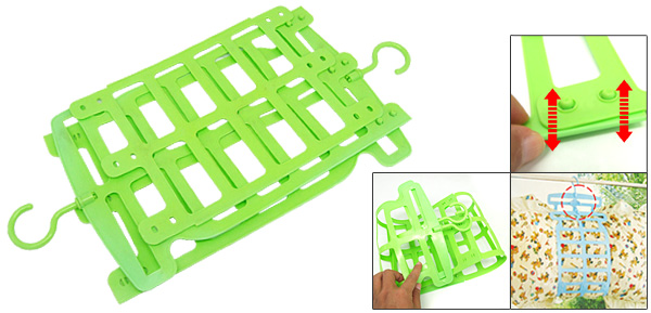 Stylish Green Plastic Laundry Pillow Hanger Hook