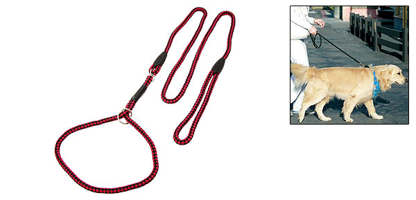 Round Nylon Adjustable Collar and Leash Set for Small Dog