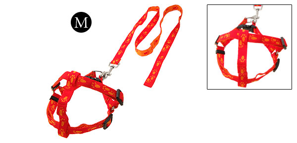 Medium Pet Dog Adjustable Pulling Harness with Leash