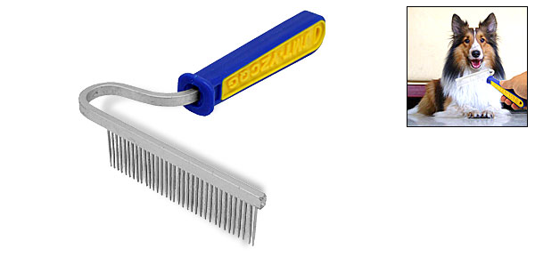 Tooth Rake Style Dog Cat Pet Grooming Moulting Comb Tool